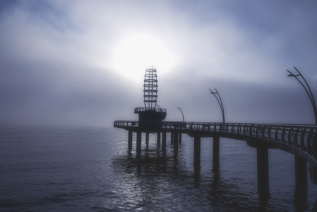 Foggy Morning on Brant St. Pier by pdulis