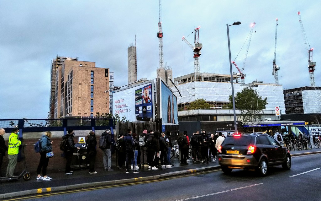 Queue for the tube station by boxplayer