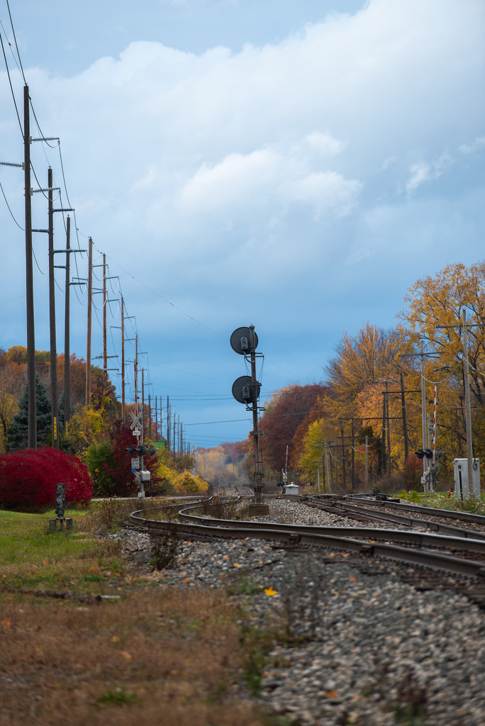 autumn small town, USA by jackies365
