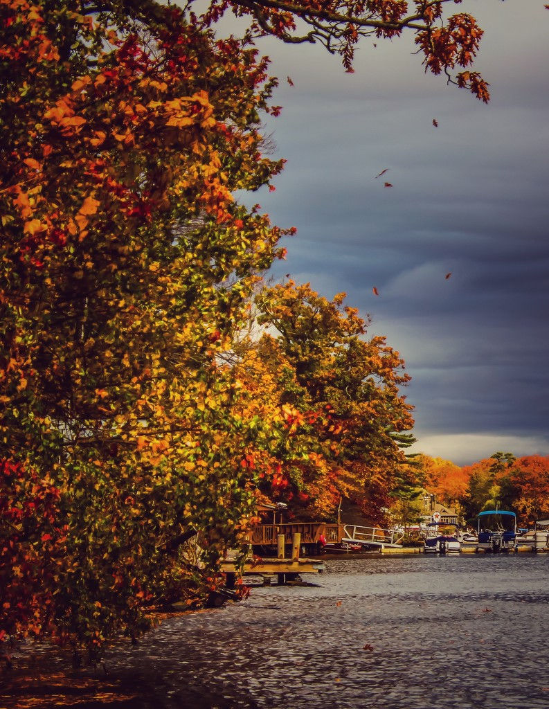 Autumn at the Lake by mzzhope