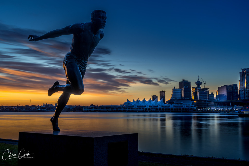 Harry Jerome Statue, Vancouver BC by cdcook48