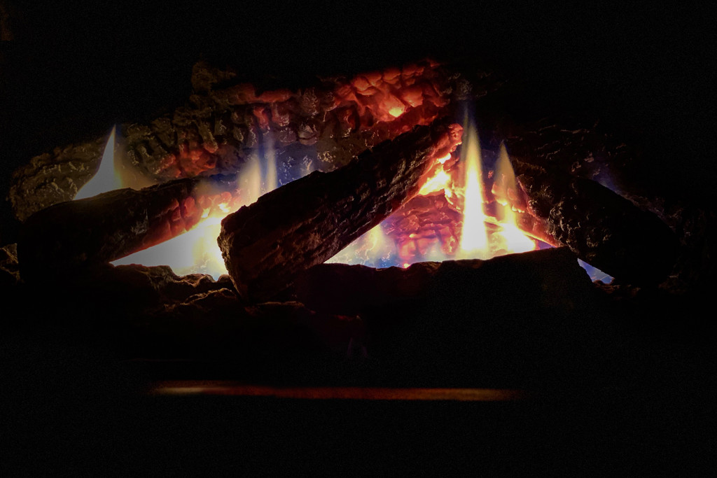 It's a gas fireplace night by berelaxed