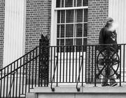 25th Oct 2020 - man vaping on city hall steps 2020-10-21