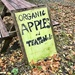 Organic apples and tea towels