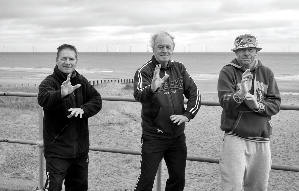 100 Strangers : Round 3 : No. 239 : Ian, Paul and Nick by phil_howcroft