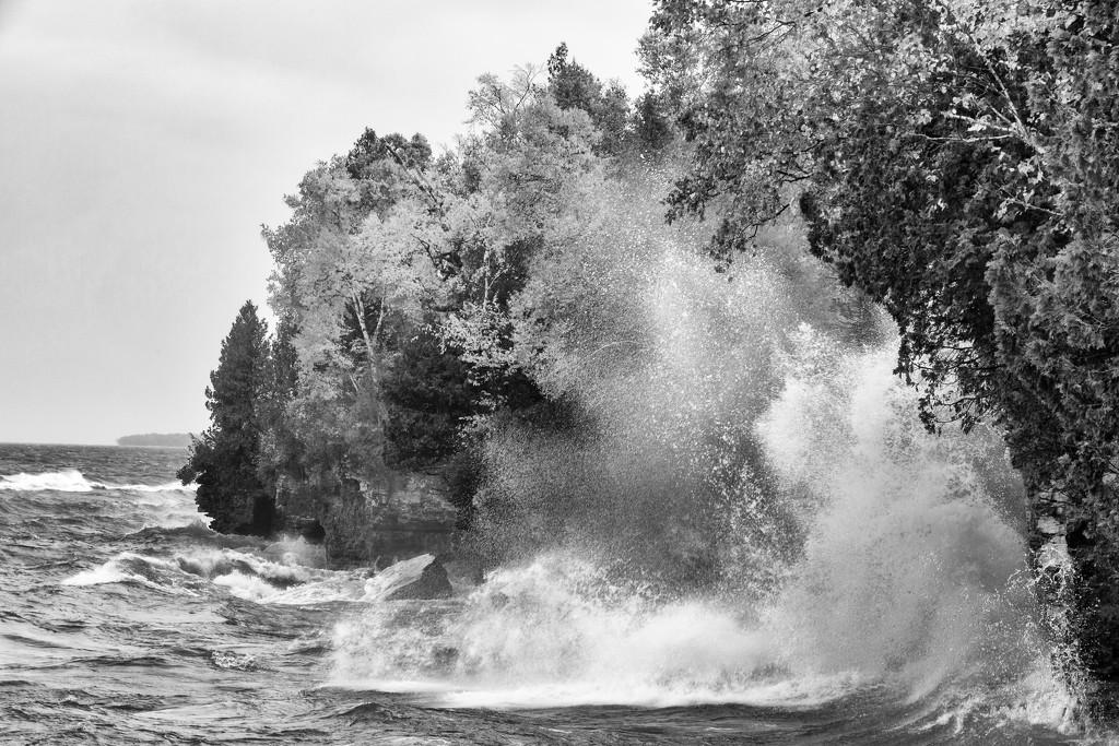 Stormy Day on Lake Michigan by photograndma