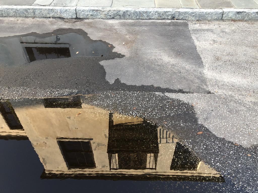 Rain puddle reflection by congaree