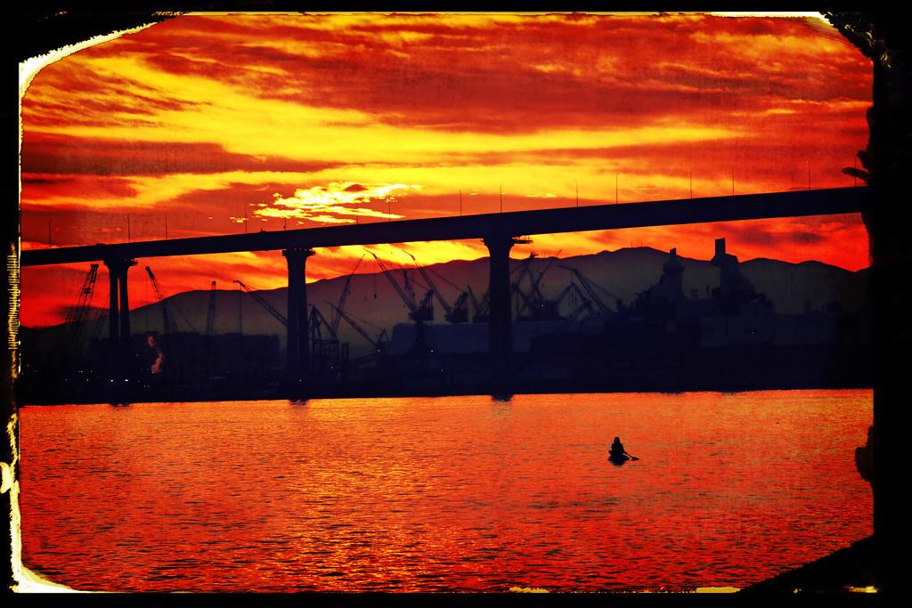 Sunrise at Coronado Bridge  by kathyboyles