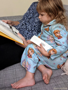 2nd Oct 2020 - Clutching the bookmark for Wimpy Kid