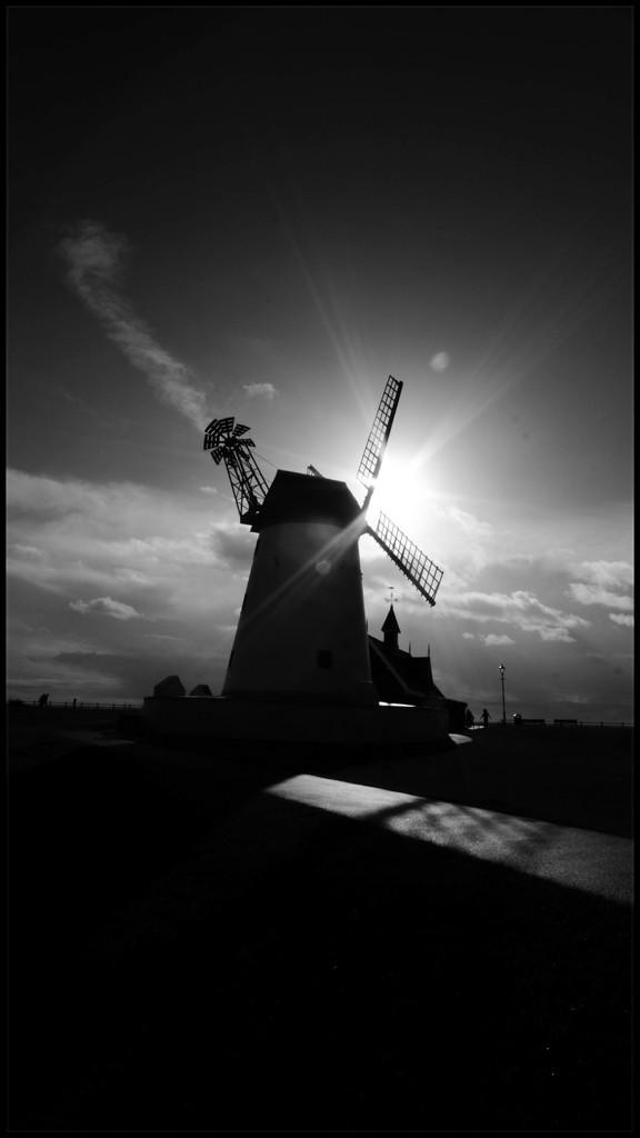Back lit windmill by lyndamcg