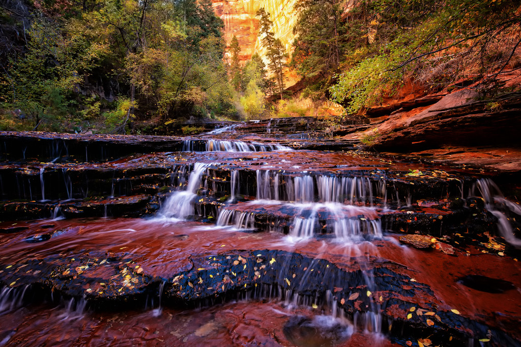 In Wild Places, the Waterfall is My Stage by exposure4u