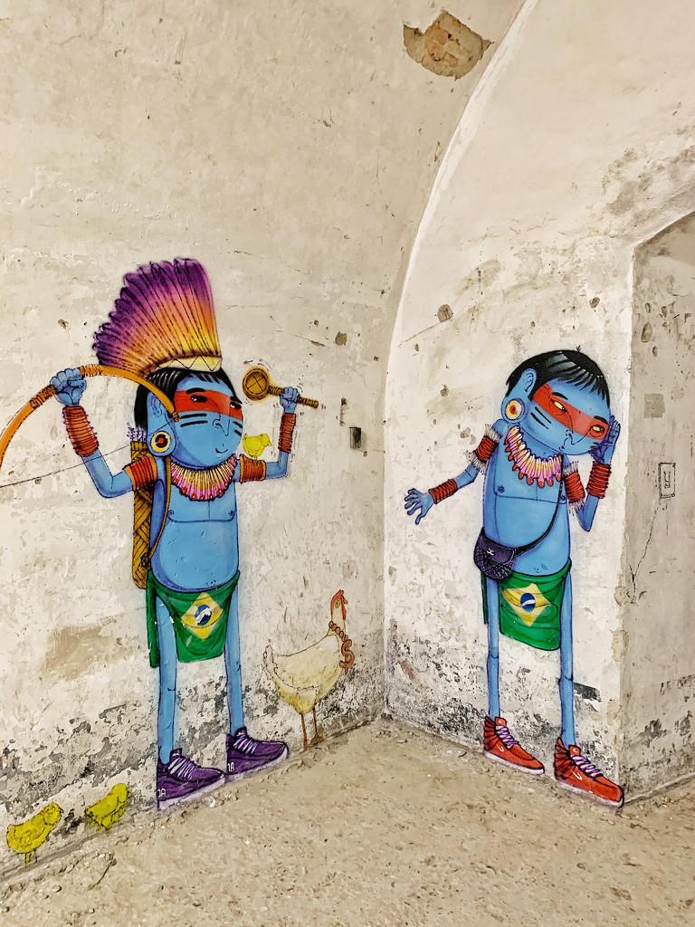 Two blue Brazilians.  by cocobella
