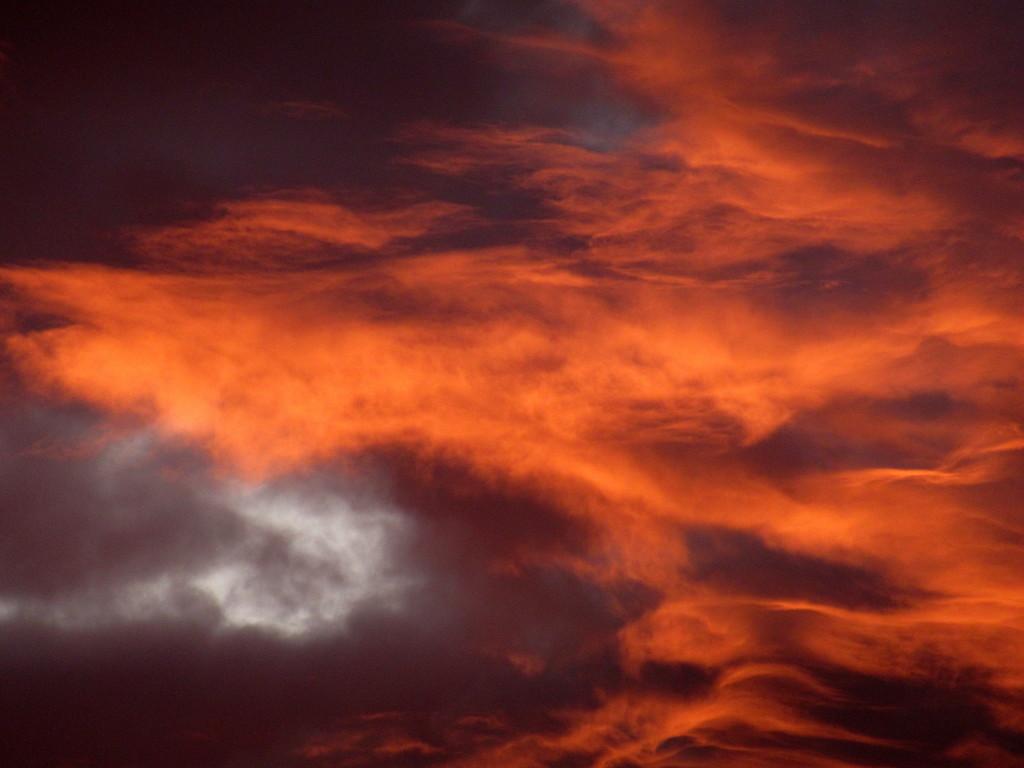 Fiery sky by bruni