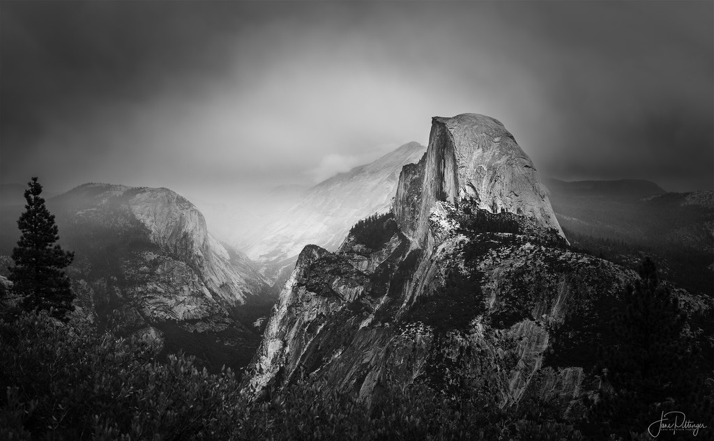 Stormy Morning On Glacier Point  by jgpittenger