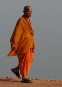 19th Oct 2020 - Buddhist monk alongside Mekong River, Vientiane, Laos.