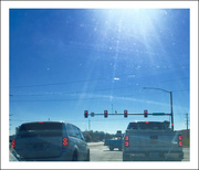 2nd Nov 2020 - Fifteen Red Lights on a sunny day — as seen through a dirty car window