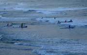 8th Nov 2020 - Surfers all waiting for the big wave