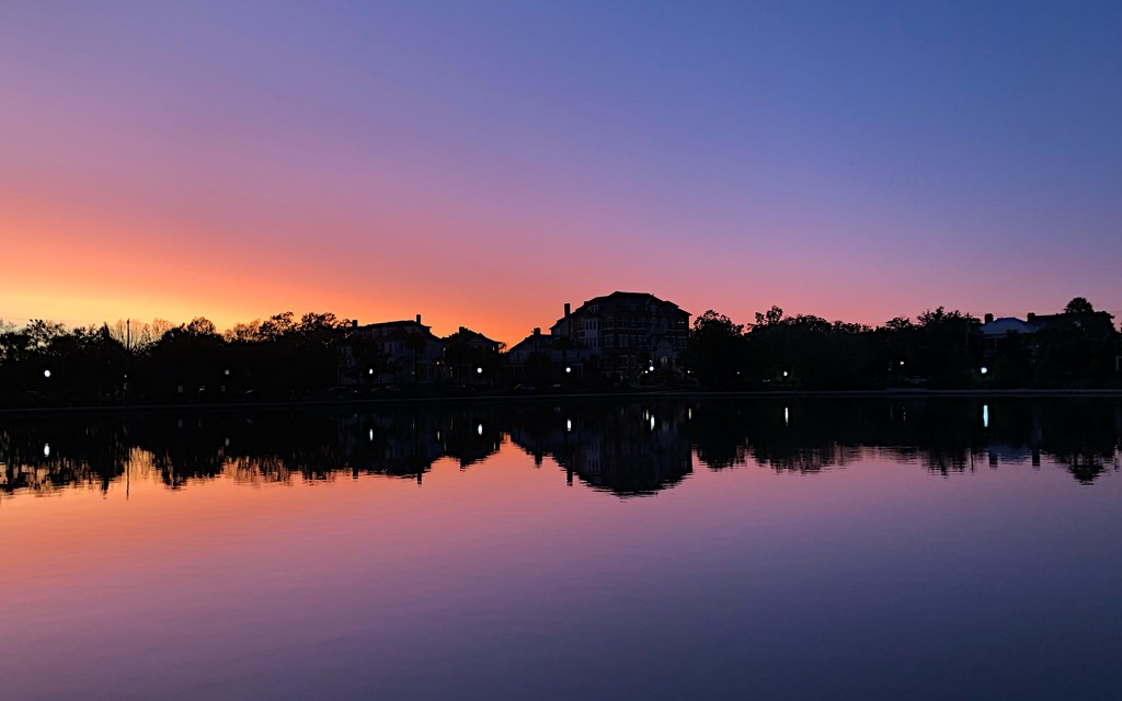 Evening reflections at Colonial Lake by congaree