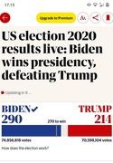 7th Nov 2020 - Biden wins presidency