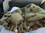 18th Jun 2018 - Road trip means knitting time