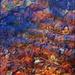 Fiery Leaves in a Pool of Water by olivetreeann