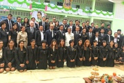 26th Oct 2020 - Local high school ceremony after renovations were completed.