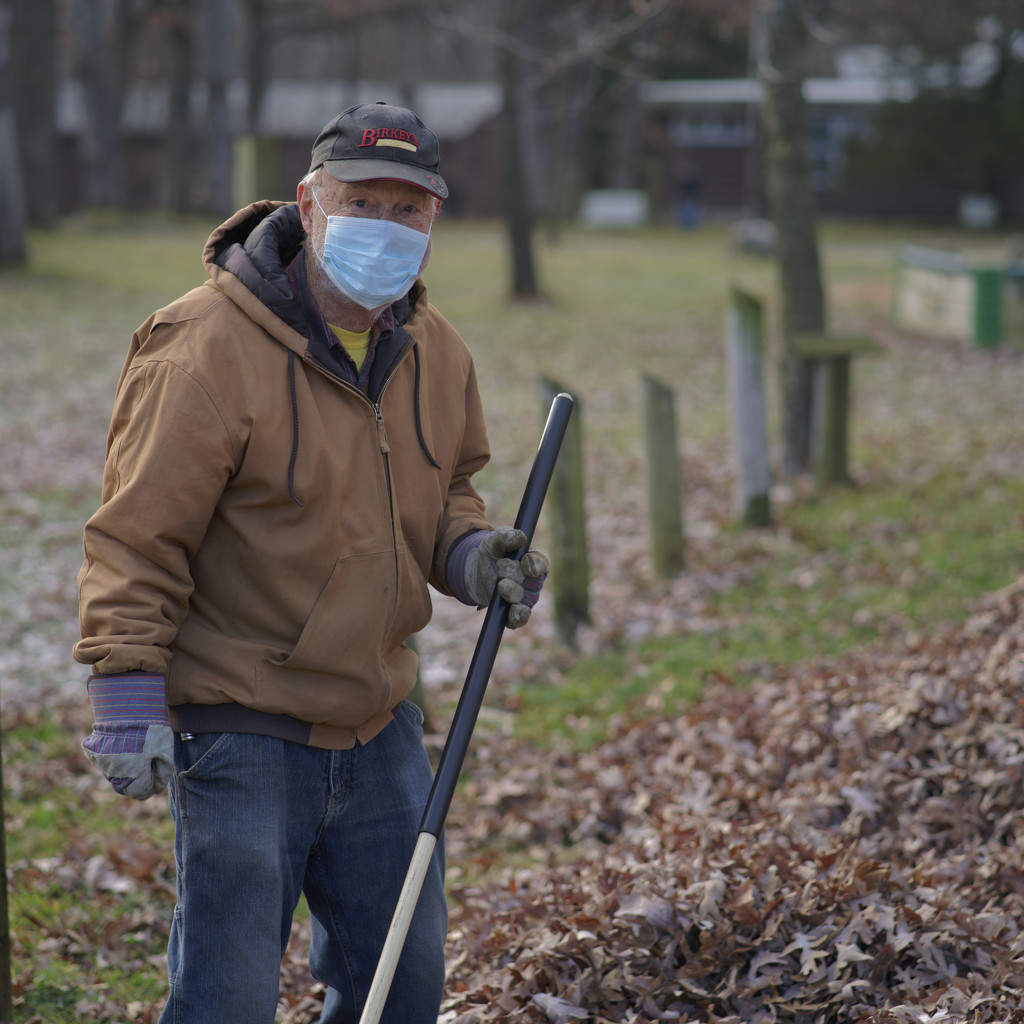 Leaf raking with the camp manager by rminer