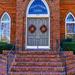 Presbyterian Church Door by k9photo