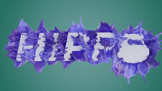 17th Nov 2020 - FLIP Fluids Text Splash