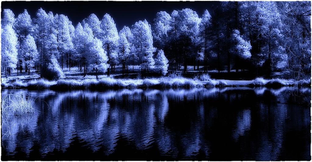 Pond midnight IR by joysabin