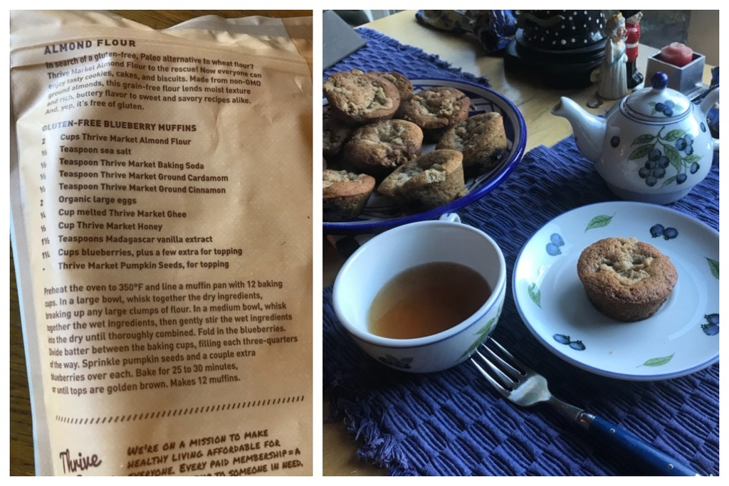 Blueberry Muffins with my Blueberry Tea Set by allie912