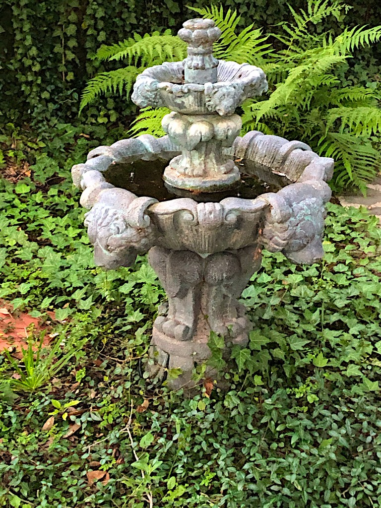 Antique unused fountain, historic district, Charleston   by congaree