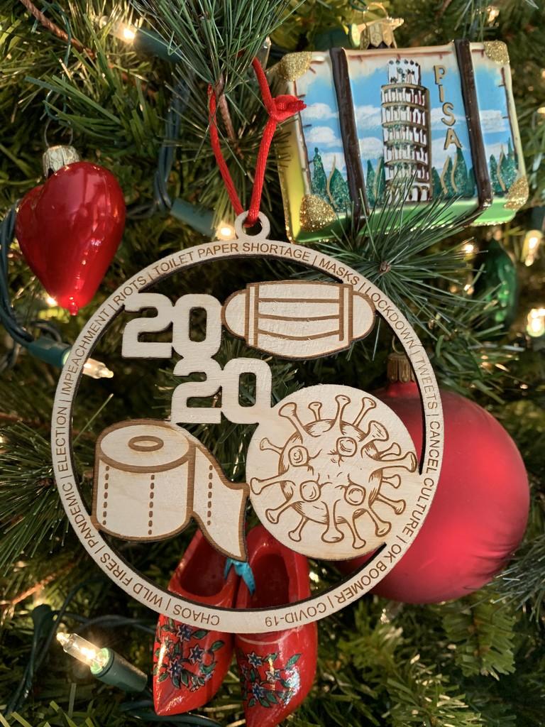 "A ""2020"" Christmas ornament by louannwarren"