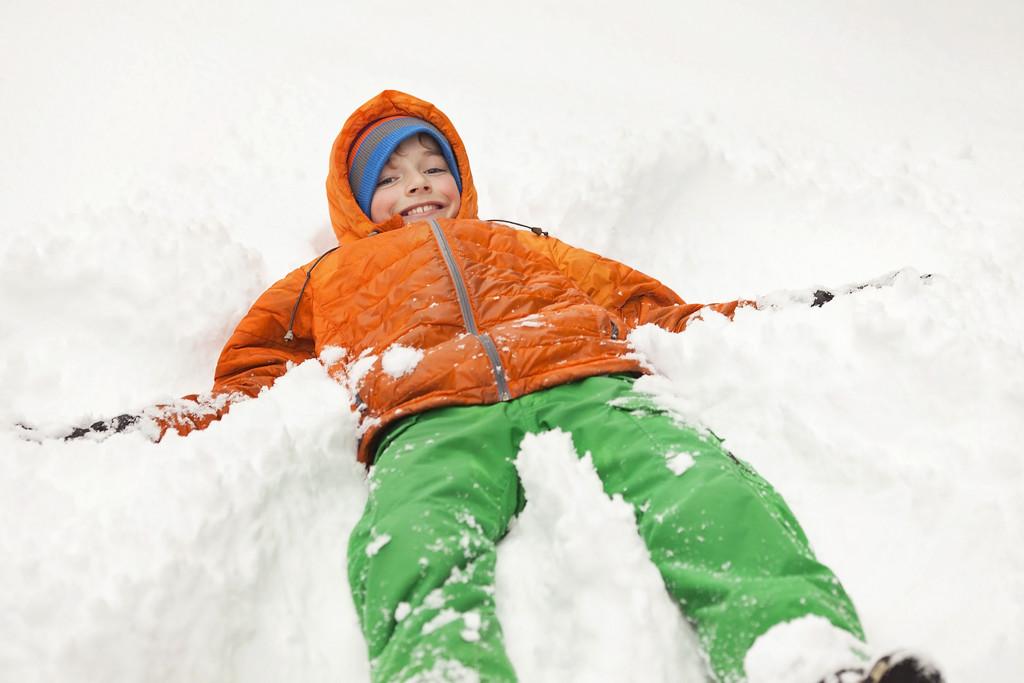 Making snow angels by kiwichick