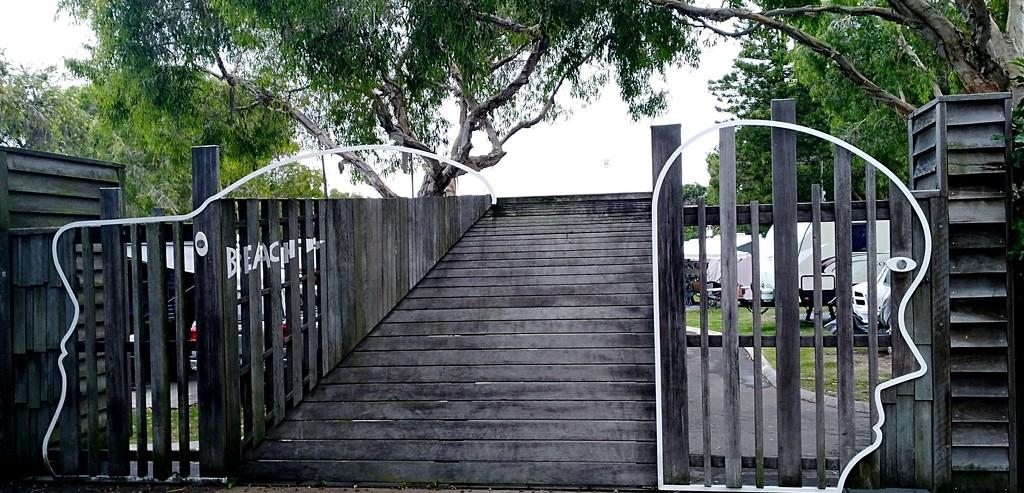 Head Gate to the Caravan Park Coolum Beach by 777margo