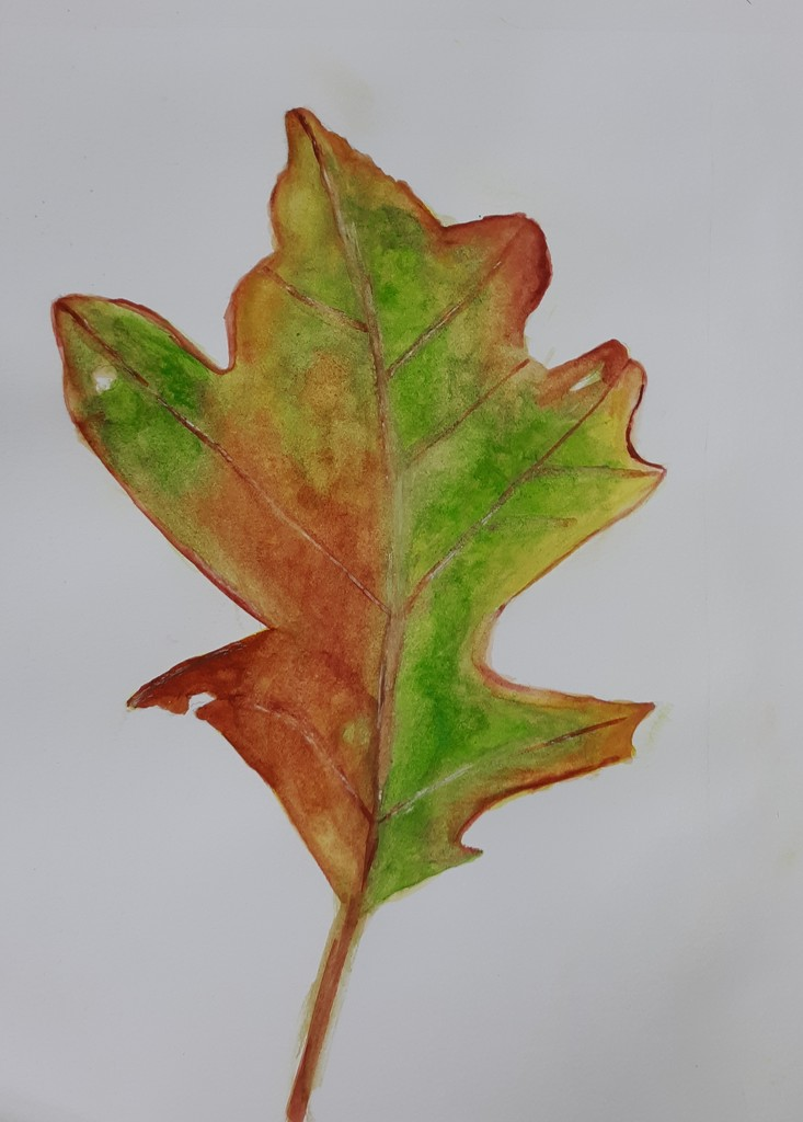 Leaf Painting by julie
