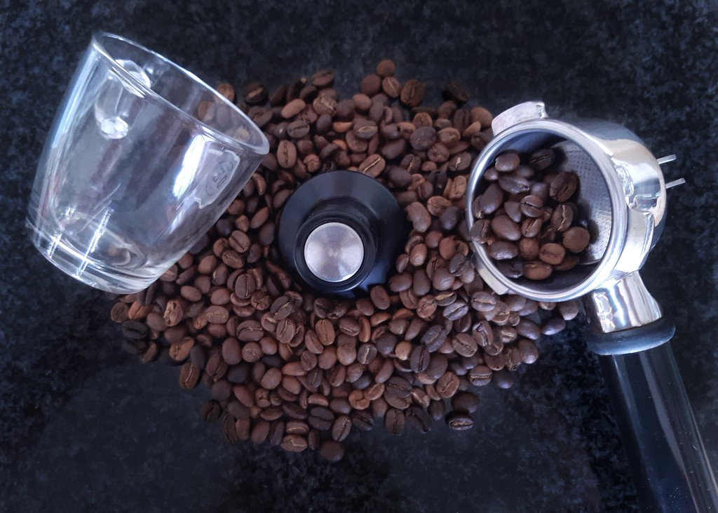 Preparations for a cup of coffee  by salza