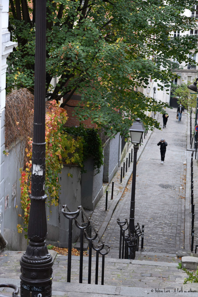 one of the many Montmartre's stairs  by parisouailleurs