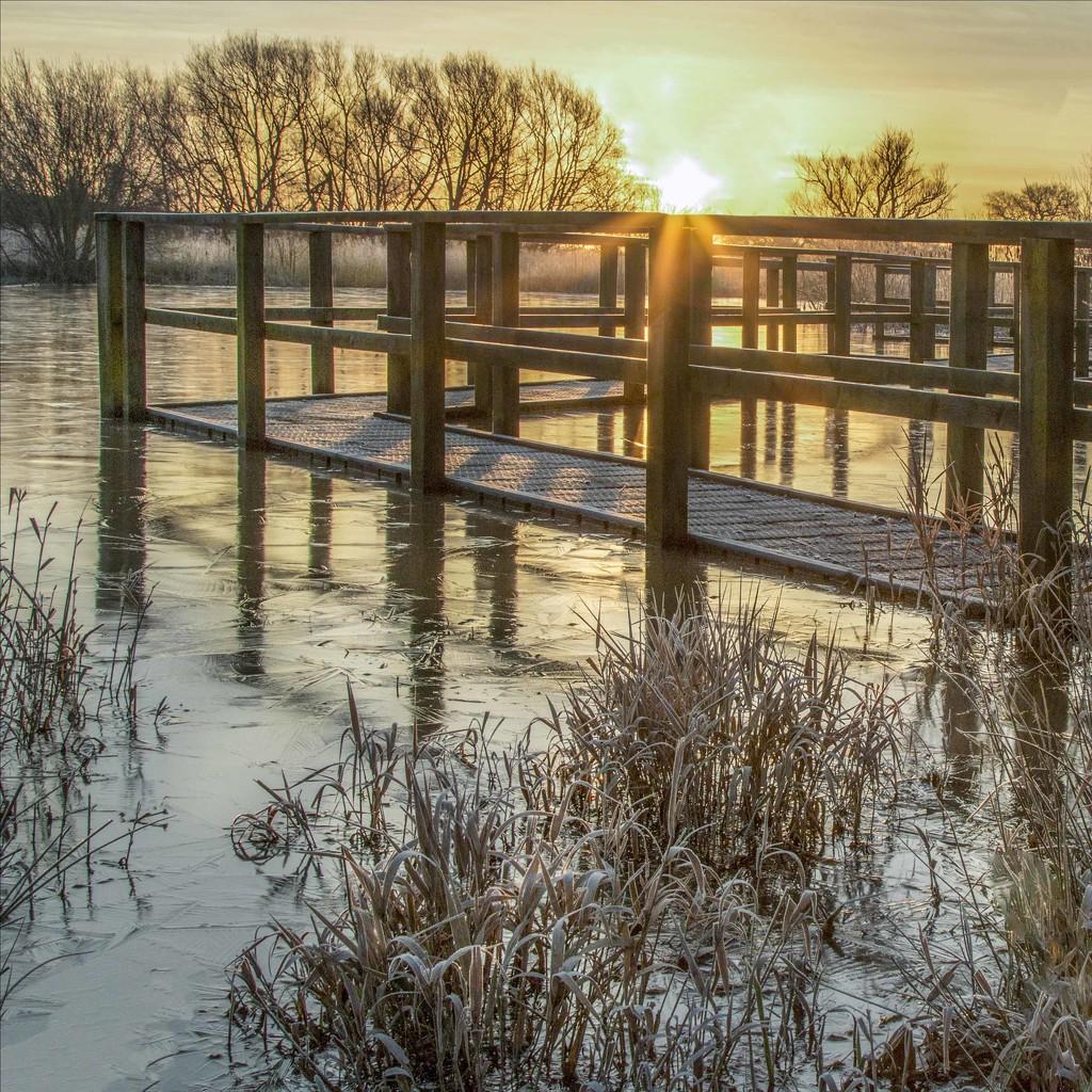 Sunrise through the bridge by shepherdmanswife