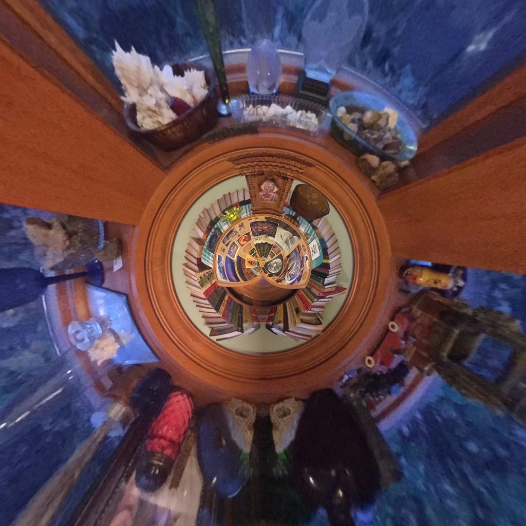 Meditation Board Tiny Planet  by mcsiegle