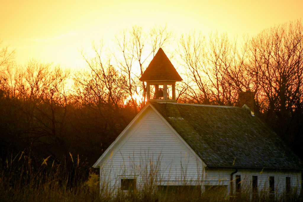 One Room School House at Sunset by kareenking