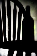 20th Nov 2020 - Shadow Play - chair and bottle