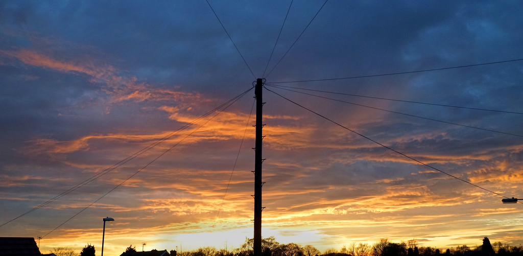 Telegraph Pole and Wires by phil_howcroft