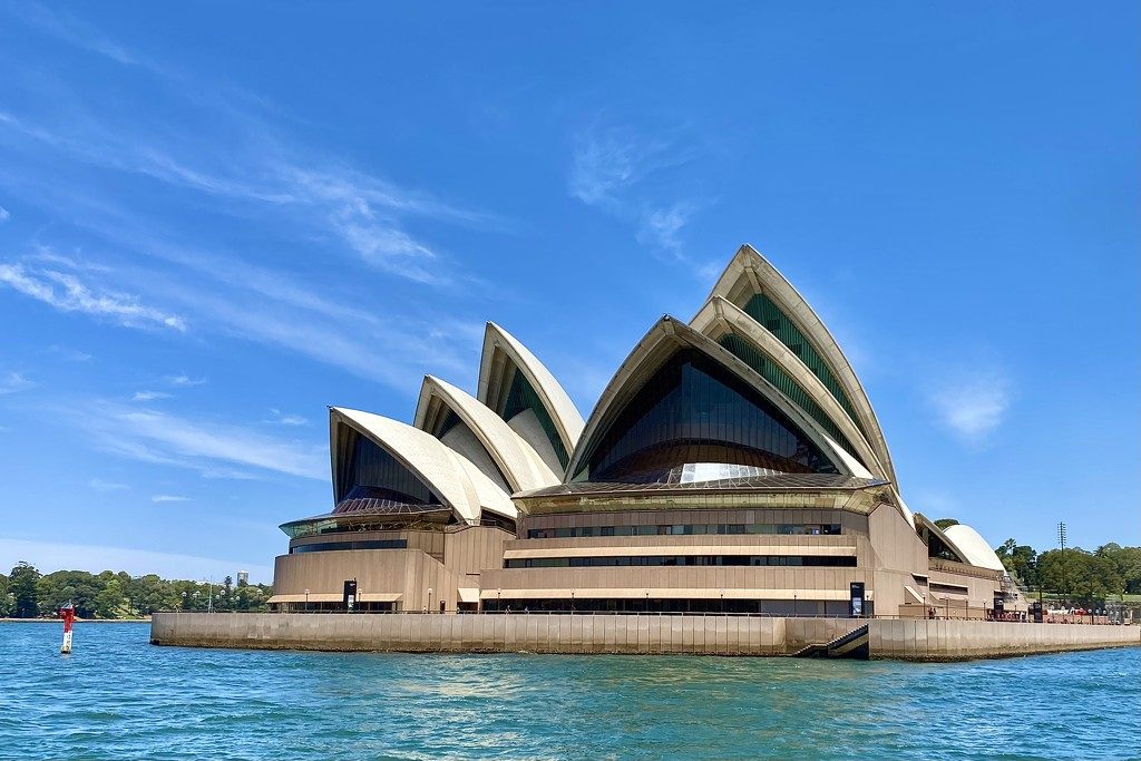 Sydney Opera House from Manly ferry.  by johnfalconer