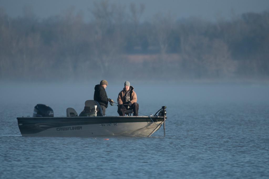 Frosty, Foggy Fishing by kareenking