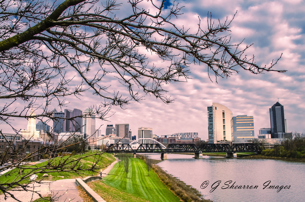 Downtown View From West River Bank by ggshearron