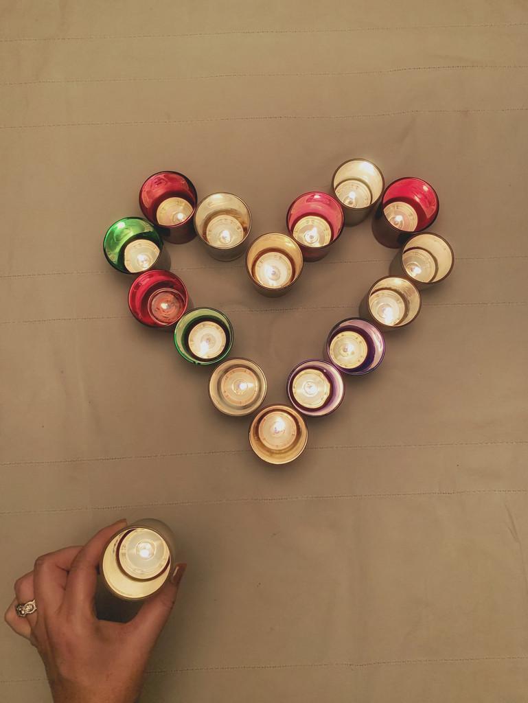 Tea lights heart.  by cocobella