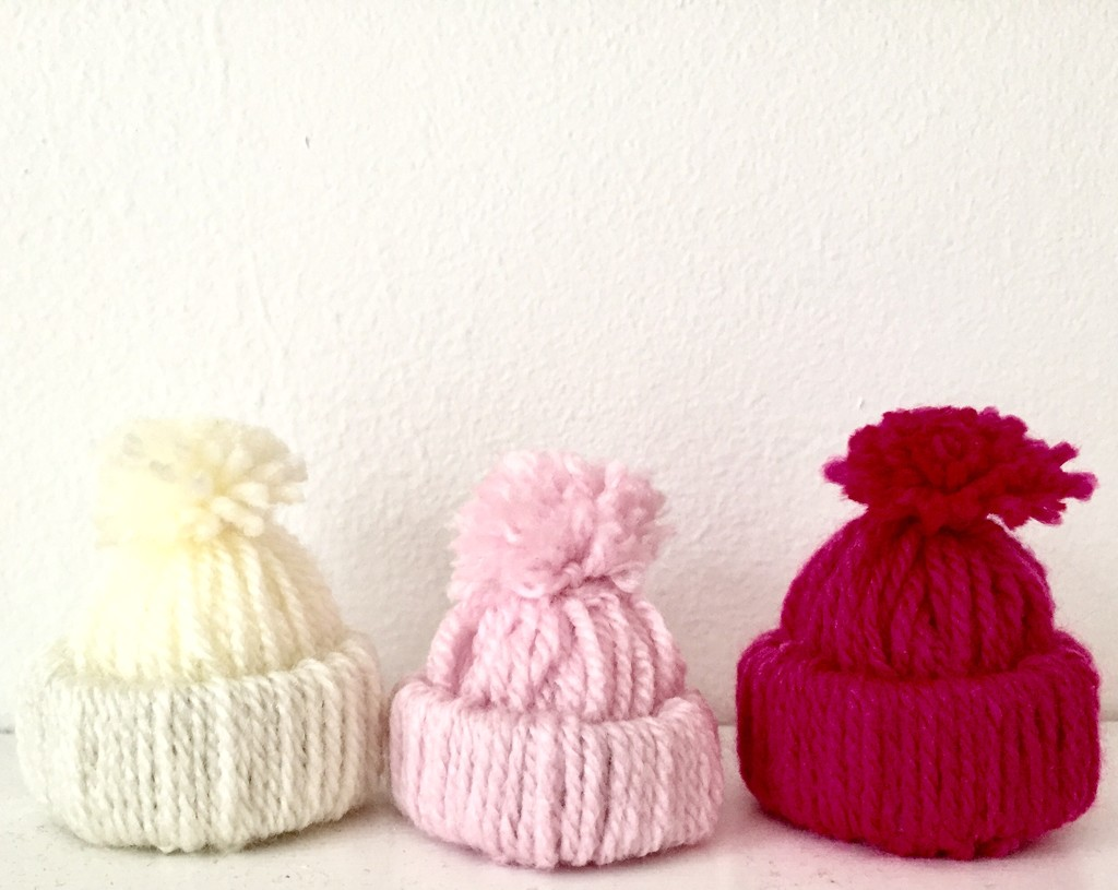 Mini bobble hats by lilaclisa