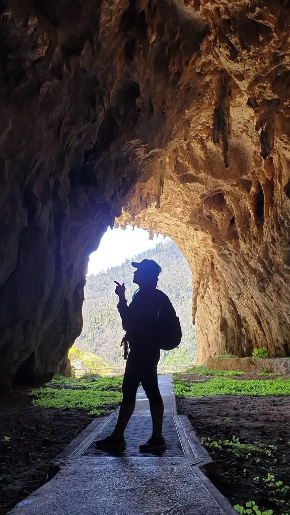 Silhouette pose at Jillabenan Cave by julianneovie