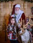 9th Dec 2020 - Olivia, Santa, and Blitzen